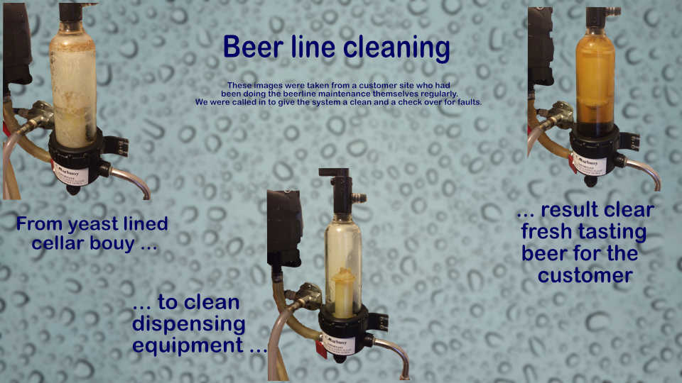 Beer Line Cleaning Before After
