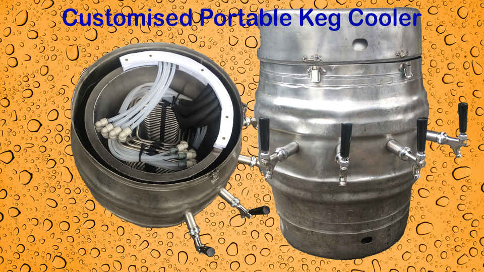 custom keg style chilly bin dispenser