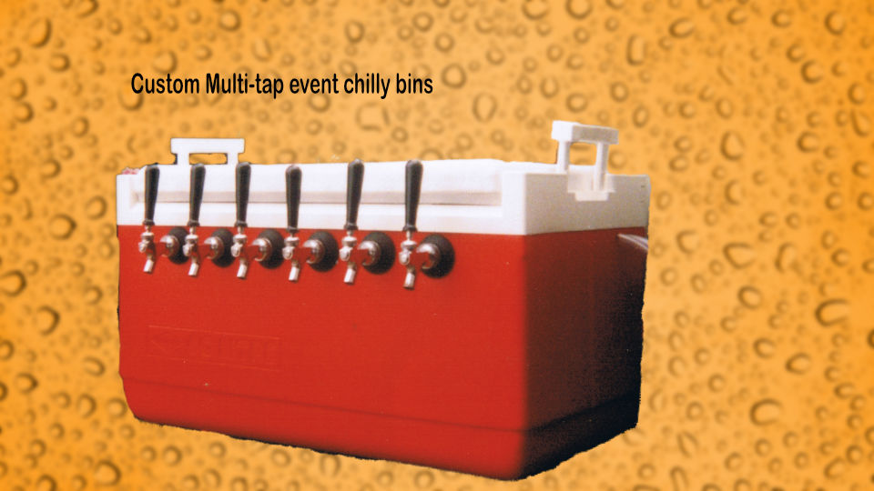 multi tap chilly bin dispenser